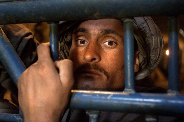The bearded Taliban prisoners