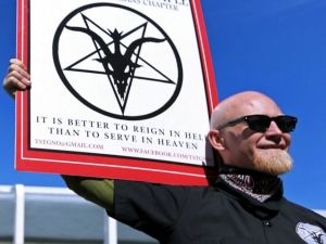 A provocative Satanic monument approved for an American city